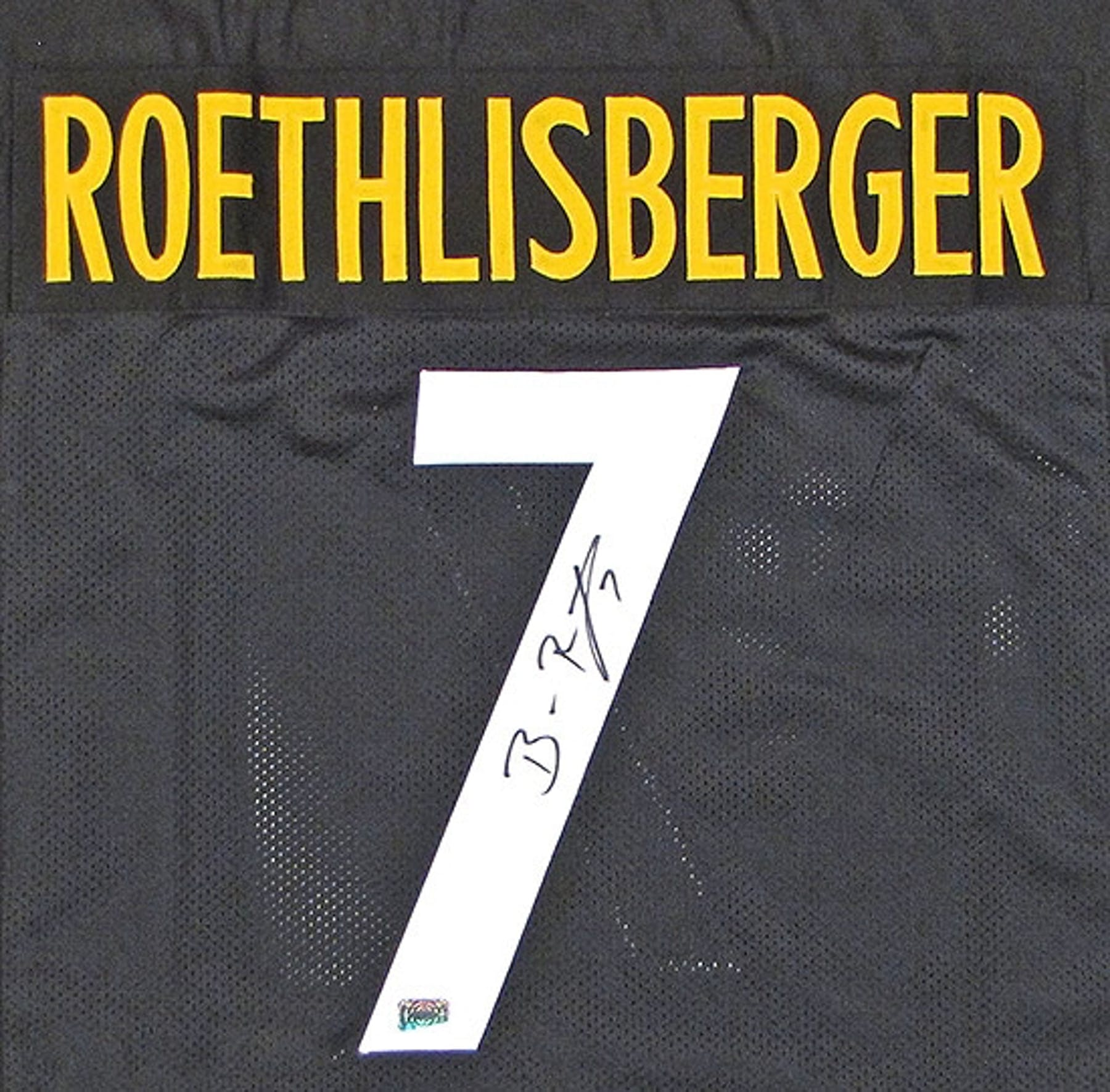 4dca45e4ca3 Ben Roethlisberger Autographed Pittsburgh Steelers Black Jersey