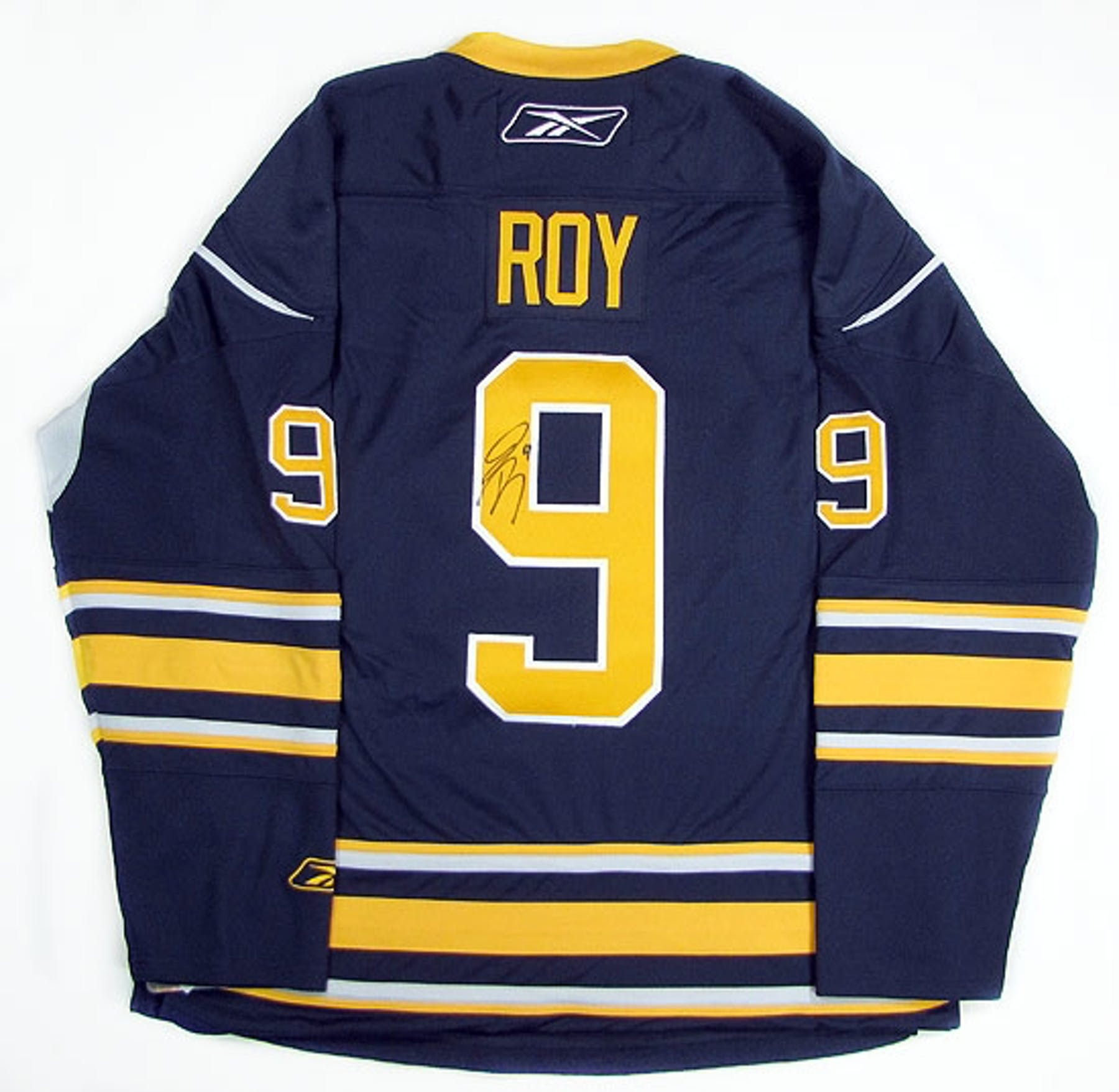 97f9715e8 Derek Roy Autographed Buffalo Sabres Blue Hockey Jersey (Home)