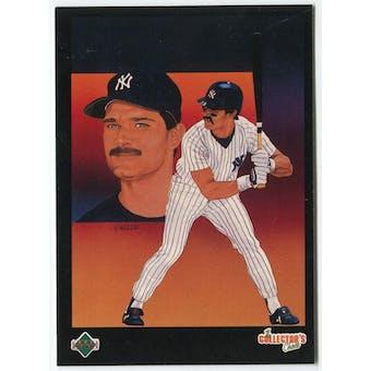 1989 Upper Deck Don Mattingly New York Yankees Blank Back Black Border Proof