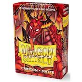 Dragon Shield Yu-Gi-Oh! Size Card Sleeves - Matte Crimson (60)