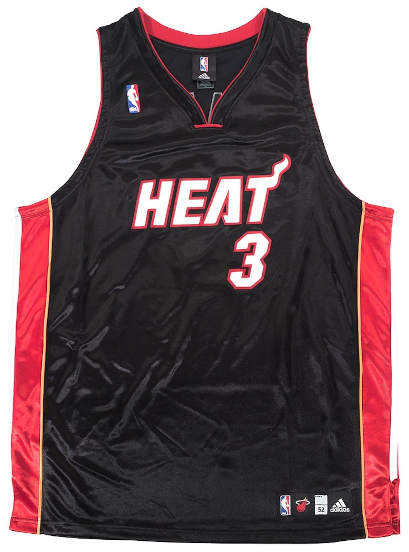279537f77 Dwyane Wade Autographed Miami Heat Adidas Authentic Basketball ...