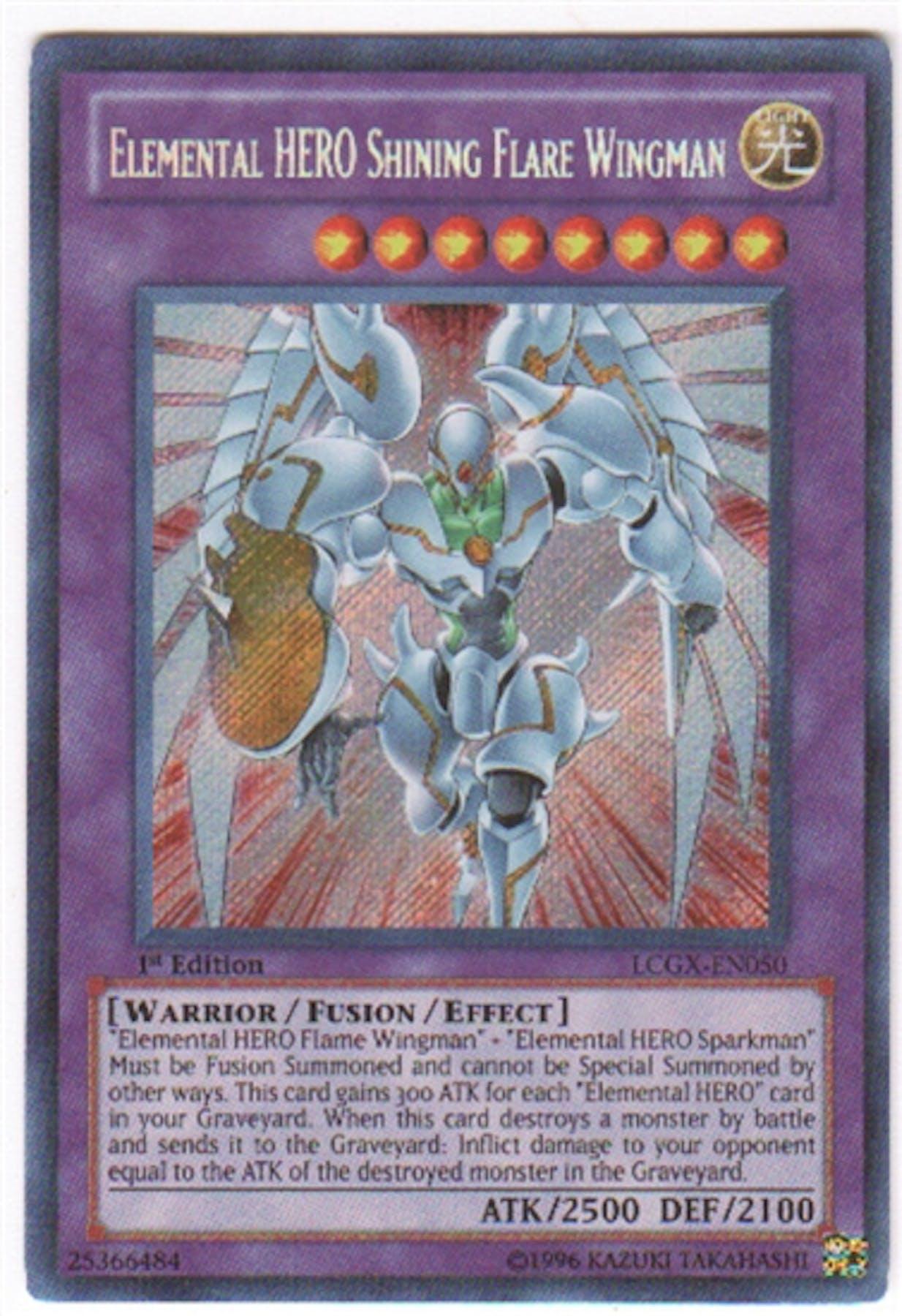 Yu-Gi-Oh Legendary Collection 2 Single Elemental HERO ...Elemental Hero Shining Flare Wingman Deck