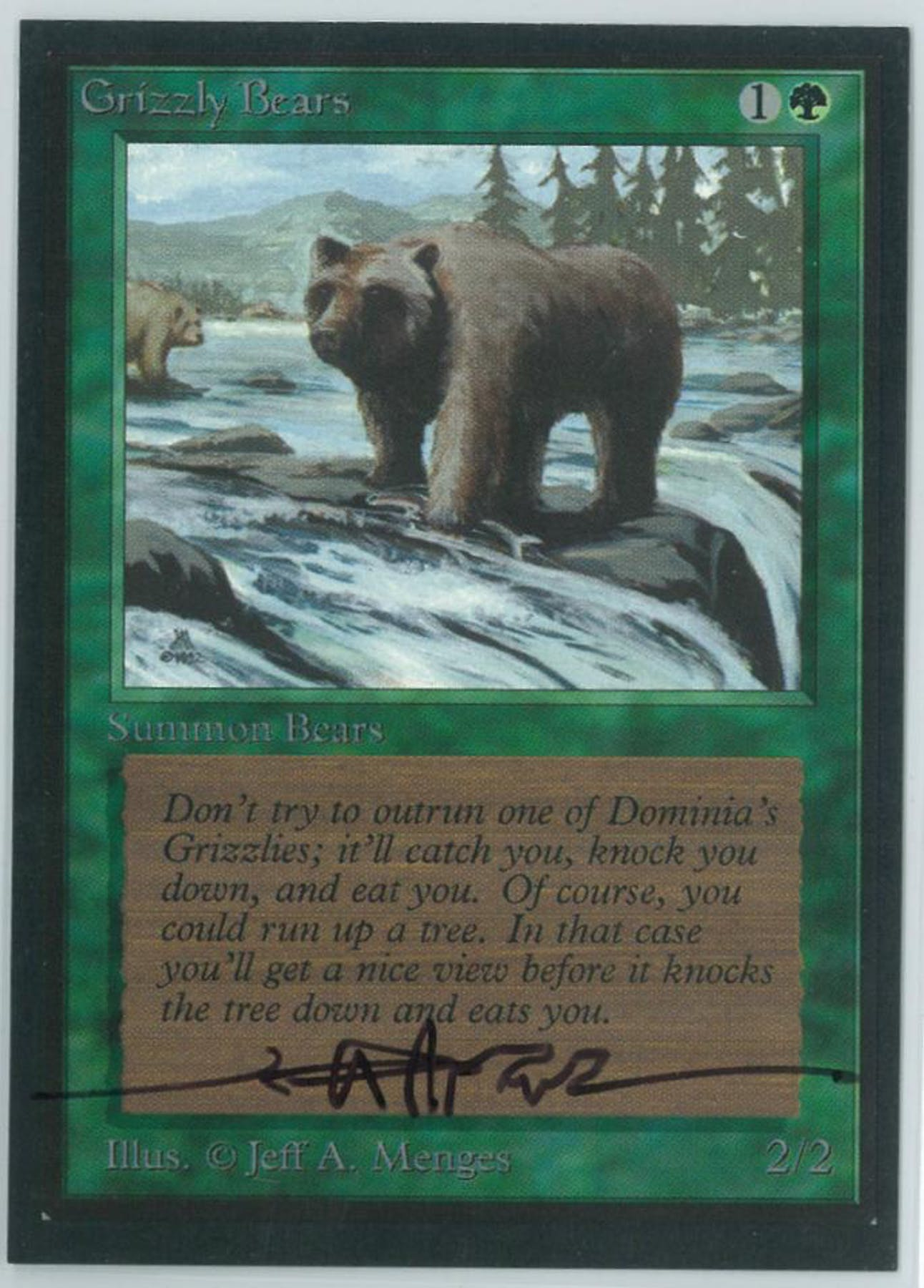 Magic The Gathering Beta Artist Proof Grizzly Bears