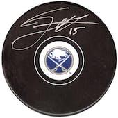 Jack Eichel #15 Autographed Buffalo Sabres Hockey Puck