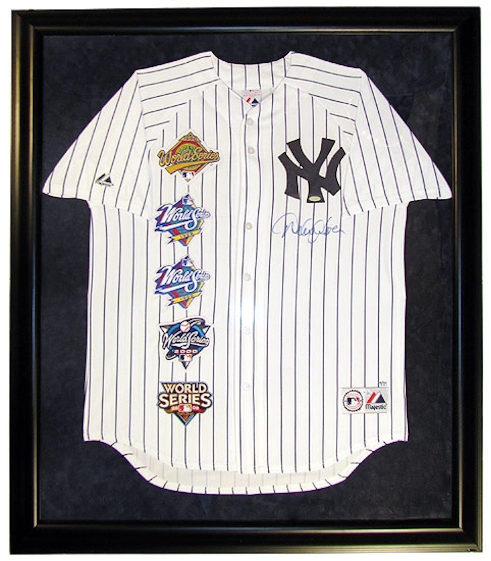 Derek Jeter Autographed Amp Framed Yankees Jersey 5 World