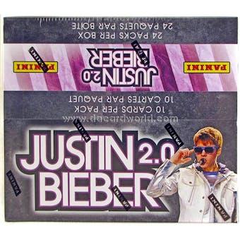 Justin Bieber 2.0 Retail 24-Pack Box (Panini 2011)