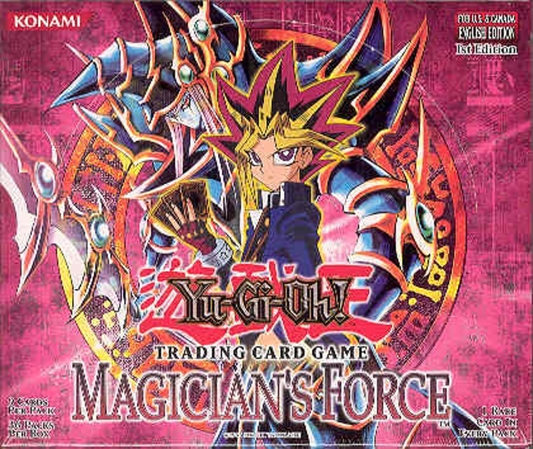 Upper Deck Yu-Gi-Oh Magician's Force 1st Edition Booster