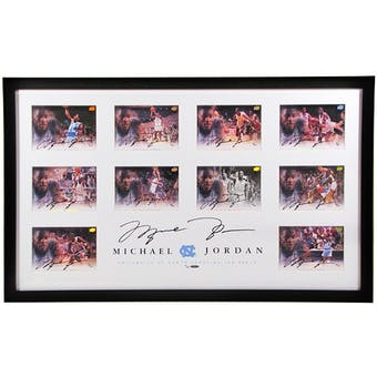 UDA Michael Jordan Autographed Framed UNC 5x7 Collection 8/25 w/11 Autos !