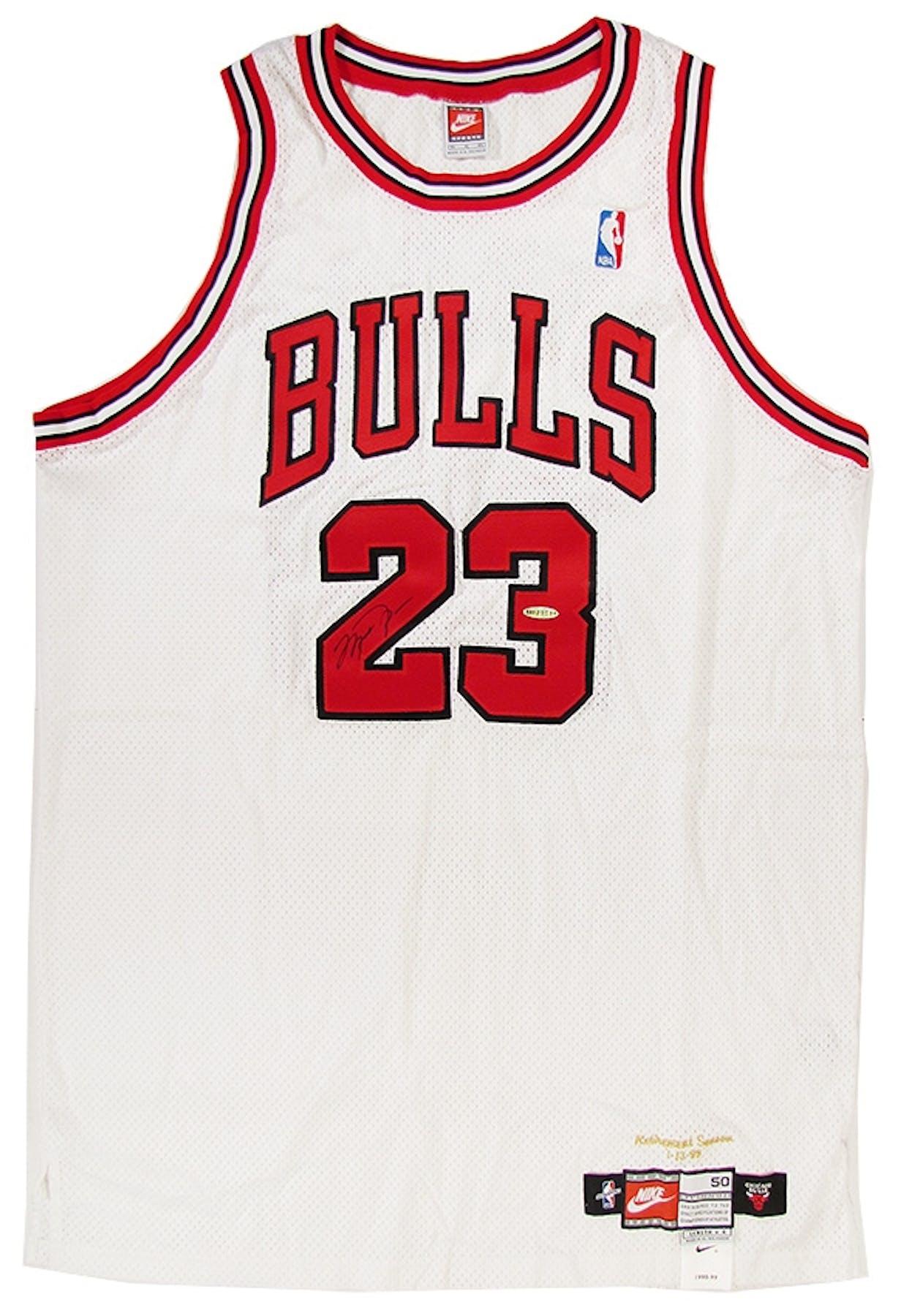 10f1293a2 Michael Jordan Autographed Chicago Bulls 98 99 Retirement Jersey ...