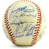 Old Timers Autographed Baseball with 23 Signatures! PSA/DNA Doerr-Jackson-Slaughter