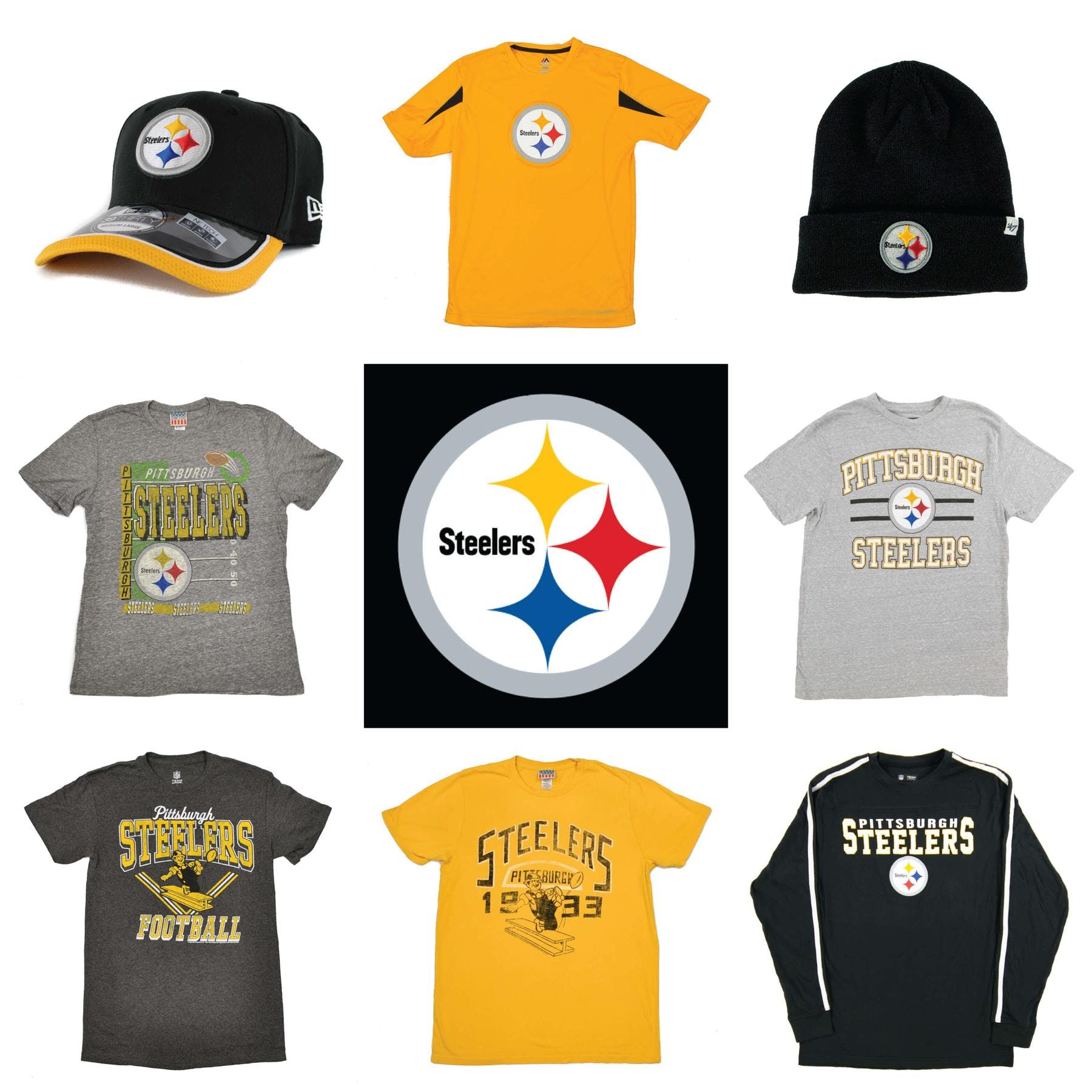 ff68d69aa Pittsburgh Steelers Officially Licensed NFL Apparel Liquidation - 530+  Items