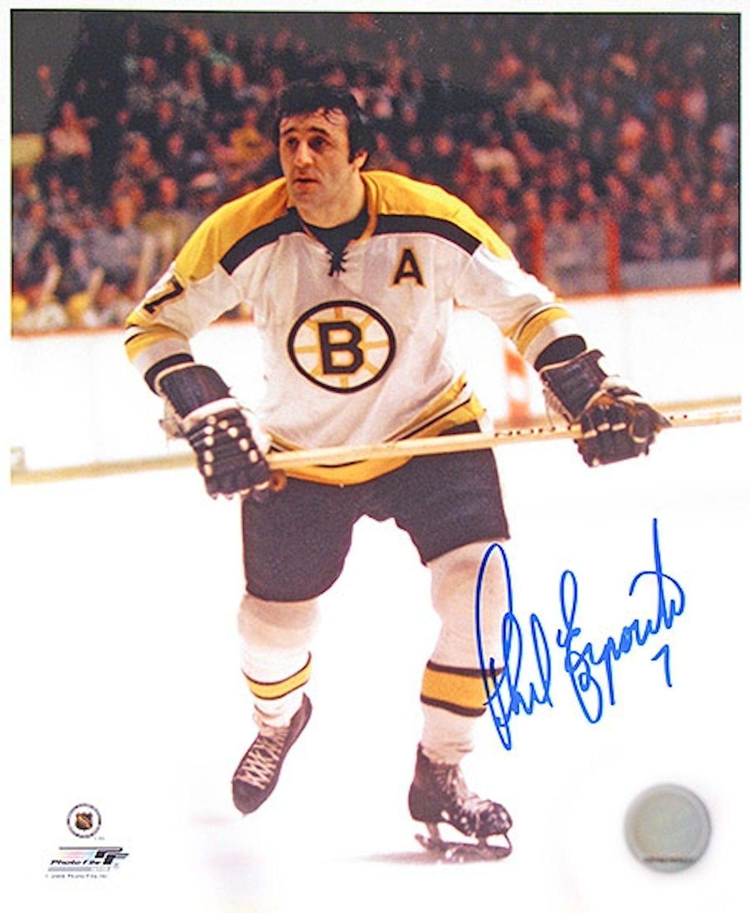 Phil Esposito Autographed Boston Bruins 8x10 Hockey Photo  7e615e22eb5