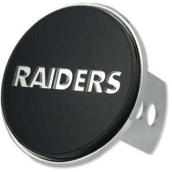 """Oakland Raiders Rico Industries 4 """" Laser Trailer Hitch Cover"""
