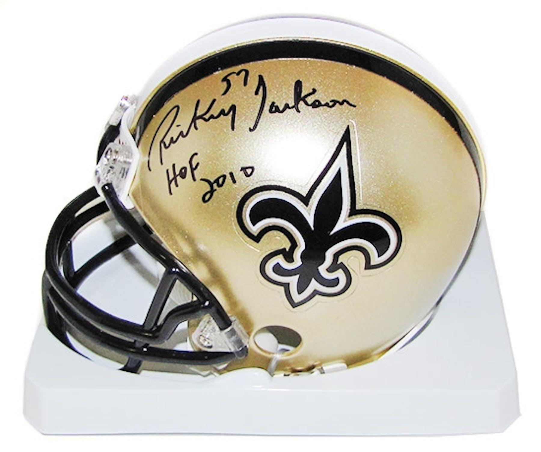 e8a319e2e5f Rickey Jackson Autographed New Orleans Saints Mini Helmet