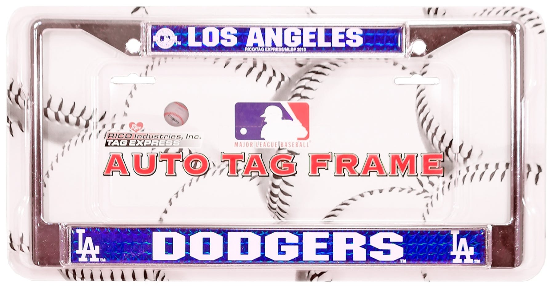 Rico Tag Los Angeles Dodgers Domed Chrome License Plate