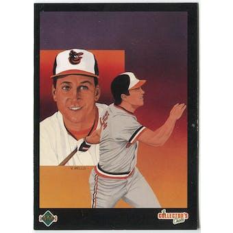 1989 Upper Deck Cal Ripken Jr Baltimore Orioles Blank Back Black Border Proof