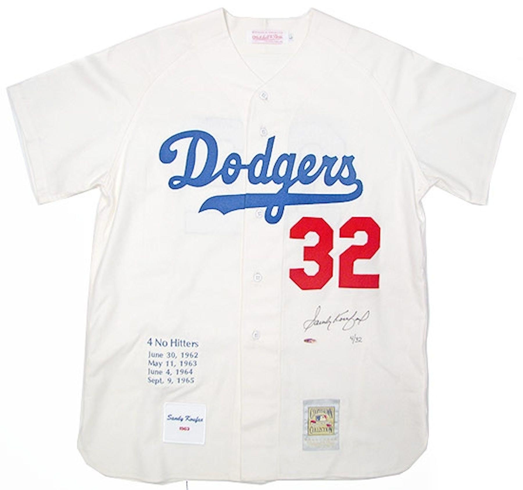 Sandy Koufax Autographed L.A. Dodgers Mitchell   Ness Jersey   32 (UDA COA)   ef9a27edd