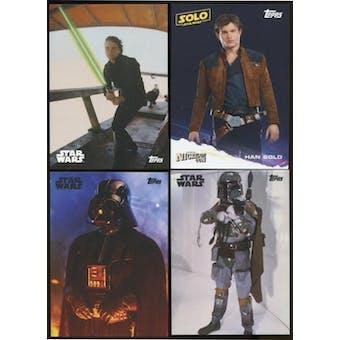 Star Wars NCC Exclusive 4-Card Set Vader/Skywalker/Solo/Fett (Topps 2018)