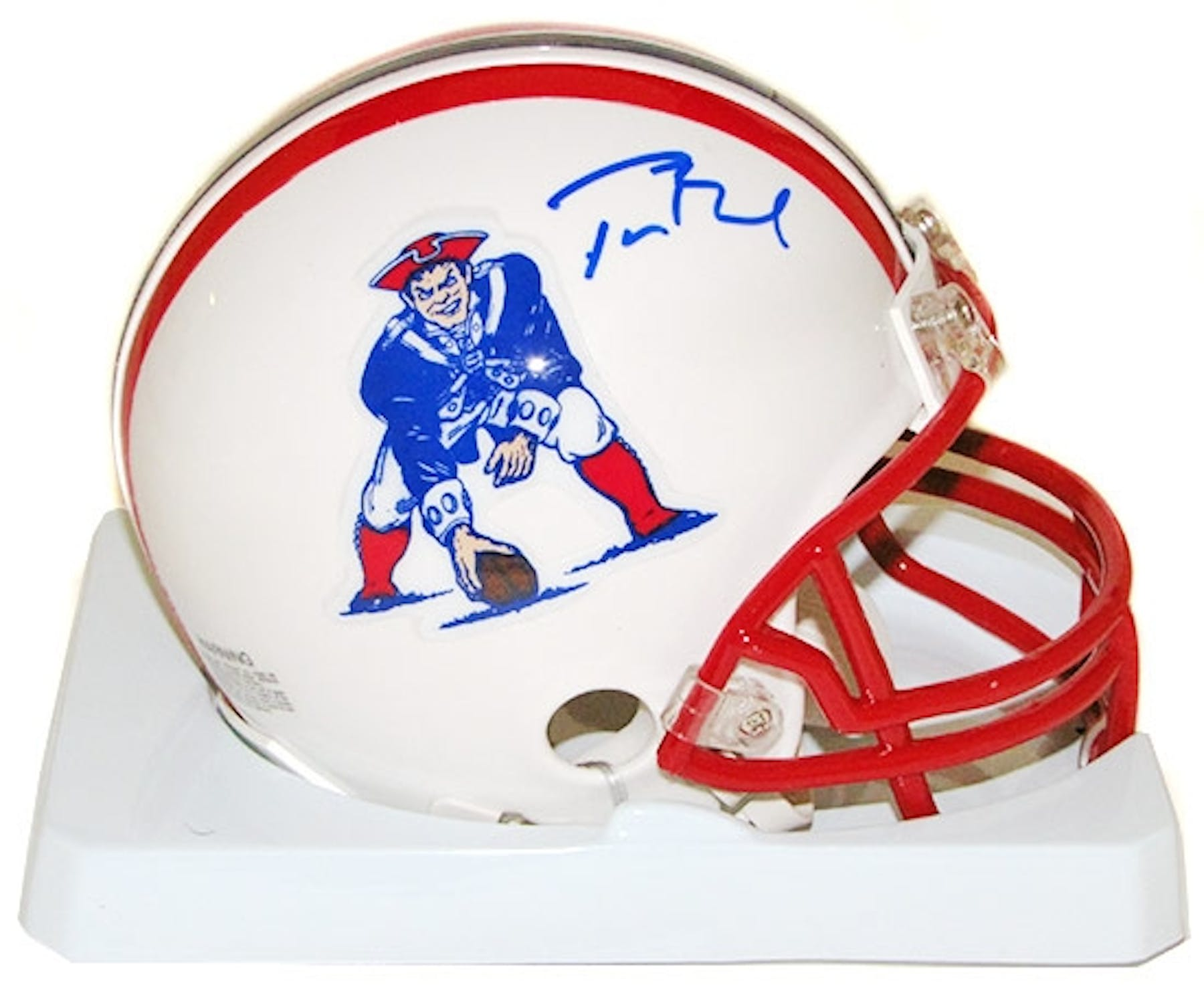 7f3d0b594 Tom Brady Autographed New England Patriots Throwback Mini Helmet