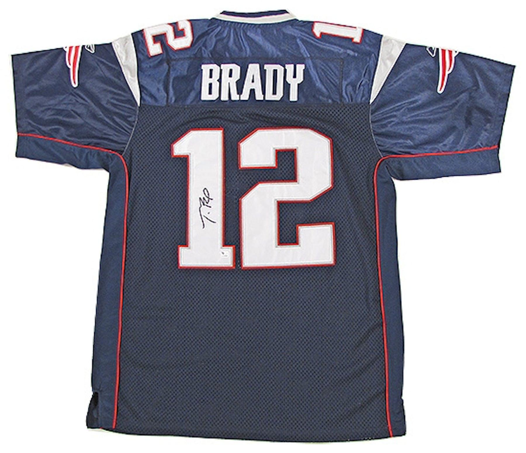 Tom Brady Autographed New England Patriots Reebok Authentic Jersey 40feb8ae6