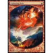 Magic the Gathering Promo Single Lightning Bolt PLAYER REWARDS FOIL - MODERATE PLAY (MP)