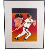Andy Van Slyke Pittsburgh Pirates Upper Deck 29 x 35 Framed Original Art