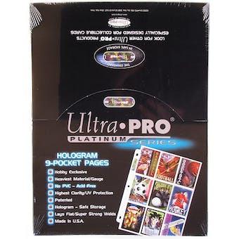 Ultra Pro Platinum 9-Pocket Pages (100 Count Box)