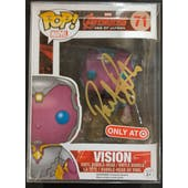 Marvel Avengers Vision Funko POP Autographed by Paul Bettany