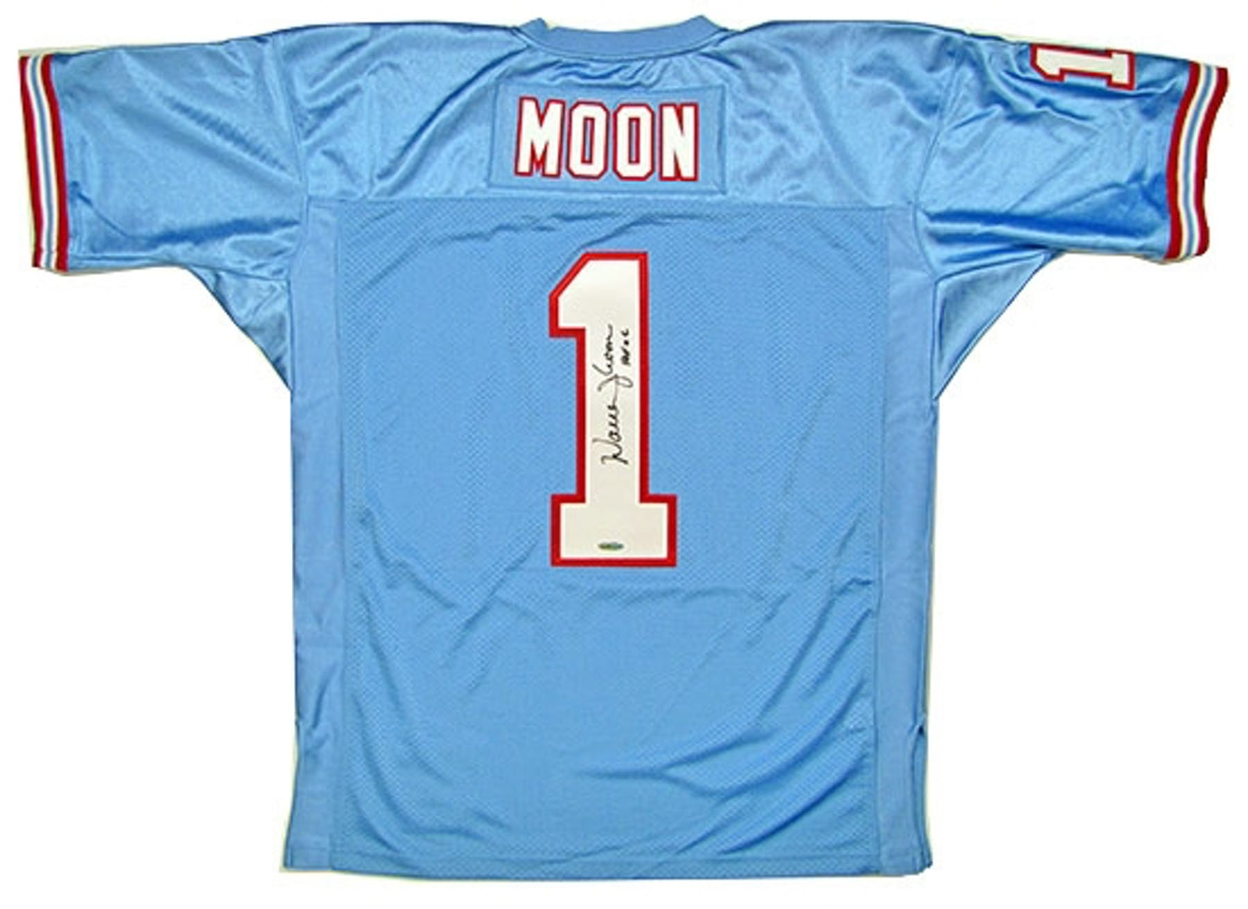 Warren Moon Autographed Houston Oilers Mitchell   Ness Throwback ... 6aefc6318