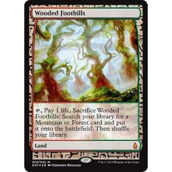 Magic the Gathering Zendikar Expedition Single Wooded Foothills Foil SLIGHT PLAY (SP)