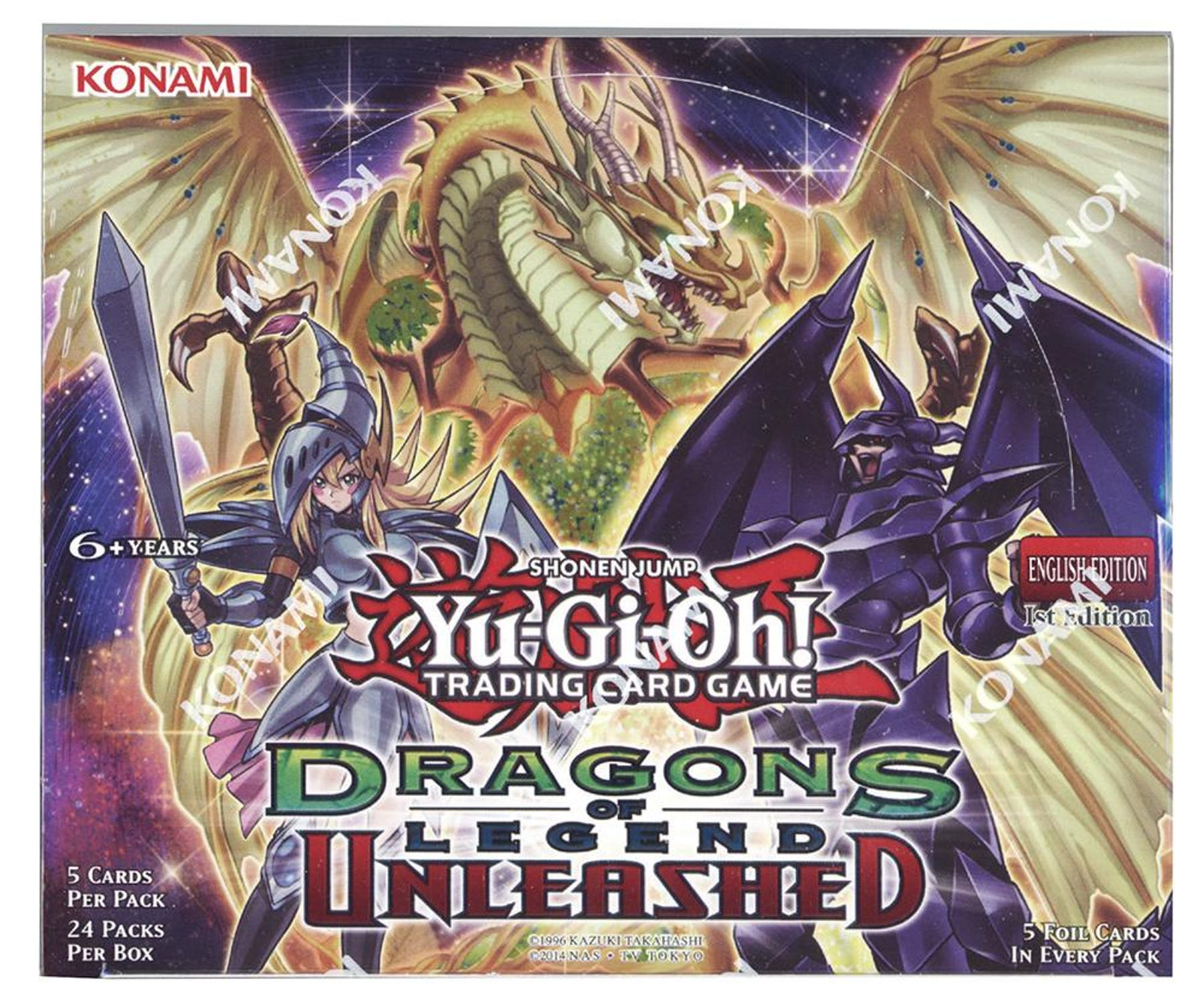 Yu-Gi-Oh Dragons Of Legend: Unleashed 1st Edition Booster
